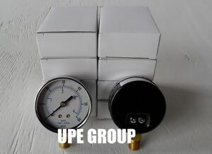 10 Pack Pressure Gauges Hydraulic Compressor 2 5 Dial 0 60 Psi Lower 1 4 Npt