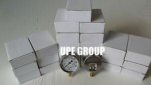 25 Pack Liquid Filled Pressure Gauge Compressor 2 5 Dial 400 Psi Lower Mnt 1 4