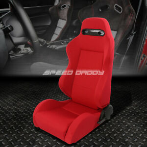 Type r Fully Reclinable Upholstery Racing Seat mount Slider Red Driver Left Side