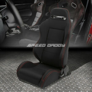 Type r Fully Reclinable Bucket Racing Seat stitch mount Slider Driver Left Side