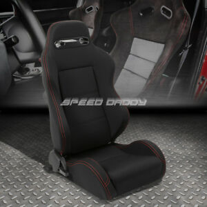 Type r Fully Reclinable Bucket Racing Seat stitch mount Slider Passenger Side