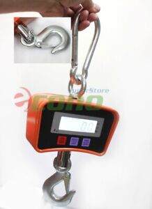 500kg 1100 Lbs Digital Hanging Scale Heavy Industrial Crane Scale W lcd Screen