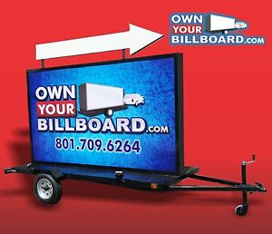 Mobile Billboard Trailer With Arrow Sign Multicolor With Vinyl Banners 6 X 10