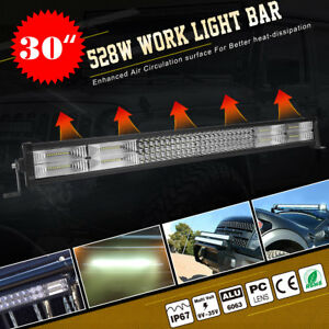 Curved 300w 52 Inch Combo Work Led Light Bar Offroad Suv Car 4wd Free Wiring