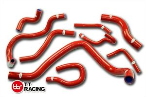 Honda Civic D series D15b Ek3 Silicone Radiator Hose Kit 96 97 98 Red 9pcs