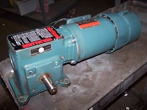Reliance 1 Hp Ac Electric Gear brake Motor 208 230 460 Vac 115 Rpm Output 3phase