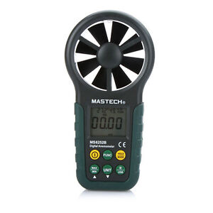 Mastech Digital Anemometer Measure Air Temperature Humidity W Usb Cable