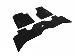 02 05 Dodge Ram 1500 2500 Front Rear Floor Mats Dark Slate Gray Set Of 3 Mopar