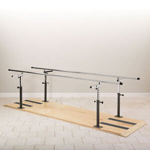 Physical Therapy Platform Mounted Parallel Bars 12