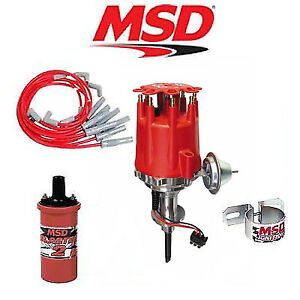 Msd 9909 Ignition Kit Ready To Run Distributor wires coil Chrysler Sb 273 360