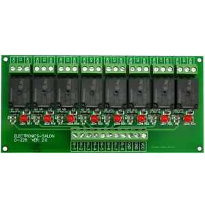 8 Channel 10amp Spdt Power Relay Module Board Dc12v Version