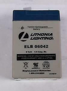 Lithonia Elb06042 ps 640fp Rechargable Lead Acid Battery 6 Volts 177103