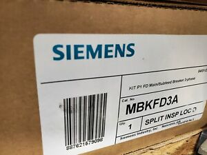 Siemens Main Subfeed Kit Mbkfd3a Circuit Breaker Panel P1 Newest Style Hardware