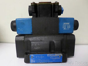 Used Vickers Solenoid Actuated Hydraulic Directional Control Valve 110 120v