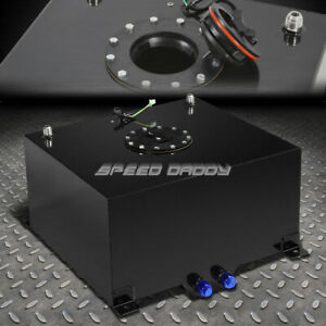 10 Gallon Black Coated Aluminum Racing drifting Fuel Cell Gas Tank level Sender