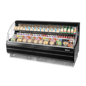 Turbo Air Tom 75lb Black Open Display Case Cooler Low Profile