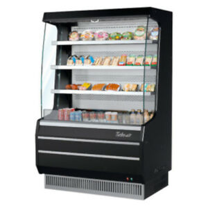 Turbo Air Tom 40mb Black Vertical Open Display Case Cooler Medium Height