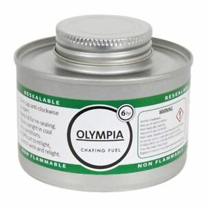 Olympia Liquid Chafing Fuel Food Warmer Easy To Open And Reseal 6 Hour Tins