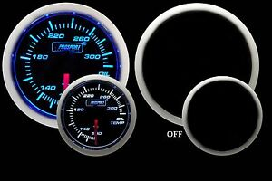 Oil Temperature Gauge Prosport Performance Series Blue White 52mm New