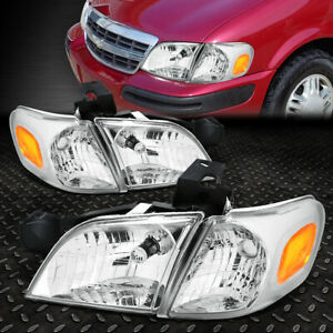 For 1997 2005 Chevy Venture Chrome Housing Headlight amber Side Turn Signal Lamp