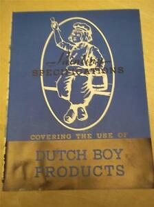 Vtg National Lead Co Catalog~Dutch Boy Paints~Painting Guide~Specifications~1939