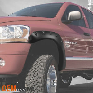 02 08 Dodge Ram 1500 Bolt on Rivet Style Fender Flares Texture Left right Sets