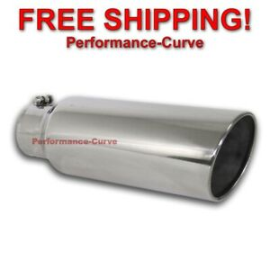 Diesel Stainless Steel Bolt On Exhaust Tip 4 Inlet 6 Outlet 18 Long