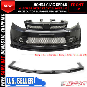 12 15 Honda Civic 4dr Mug Rr Style Front Bumper Lip For Mugen Abs Kit Only 3pc