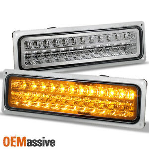 Fit 1988 98 Chevy Gmc C10 C K Sierra Silverado Suburban Tahoe Led Bumper Lights