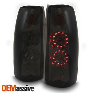 Fit 88 00 C K C10 Gmc Sierra Yukon Pickup Truck Led Smoked Tail Light Lamps