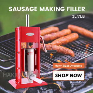 Hakka 7lb 3l Sausage Stuffer 2 speed Stainless Steel Vertical Sausage Maker Cv 3