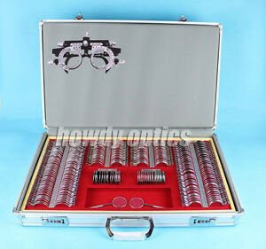266pcs Trial Lens Set Case Metal Rim Aluminium Case Full Ajustable Trial Frame