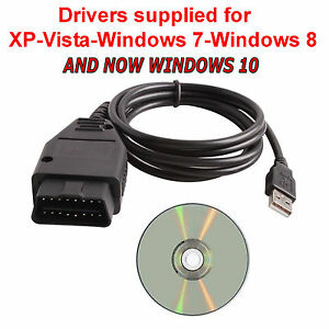 Black Obd2 Obdii 409 1 Kkl Usb Car Diagnostic Cable Lead Interface Tool