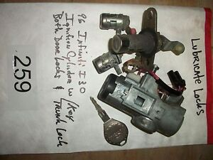 1996 Infiniti I30 Ignition Cylinder W Key Locks p259