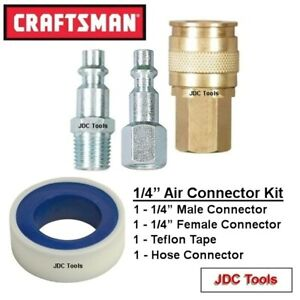 Craftsman 4 Pc Air Tool Accessory Connector Set New