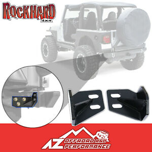 Rock Hard 4x4 Heavy Duty Rear Frame Brace Kit For 1987 1995 Jeep Wrangler Yj