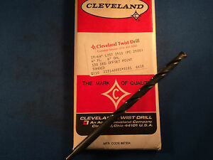 New Cleveland Twist Drill 19 64 6 Oal Hss Twist Drill 10 pack