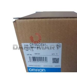New Omron Cp1w cif41 Plc Option Board Relay Sockets Hardware Ethernet Adapter