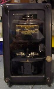 Westinghouse Reverse Power Relay Type Cr 125 Volt 4 2 4 Amp 4 Second