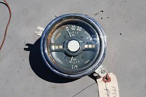 1950 Plymouth Oil And Fuel Gauge Cluster Original