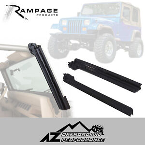 Rampage Windshield Uprights Fits 1987 1995 Jeep Wrangler Yj 69998 Black
