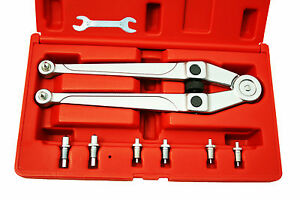 8120 Adjustable Pin Spanner Set Gland Nut Wrench Range 25 32 3 15 16