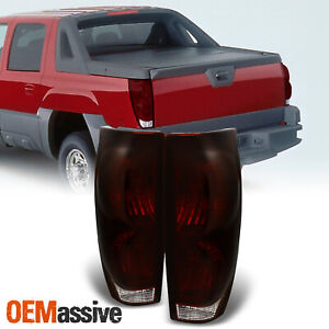Fit 2002 2006 Chevy Avalanche 1500 2500 Pickup Dark Red Tail Lights Replacement