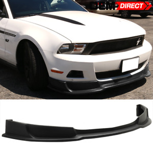 For 10 12 Ford Mustang V6 Style Front Bumper Lip Pu