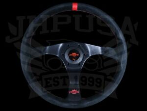 Personal Trophy 350mm Steering Wheel Black Suede W Red Stitching 6518 35 2082