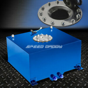 10 Gallon 38l Blue Coat Aluminum Racing drift Fuel Cell Tank cap level Sender
