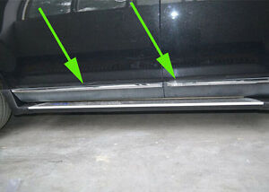 Chrome Body Side Molding Cover Trim For Ford Edge 2011 2012 2013 Door Sill