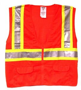 Ansi 107 28255 Class 2 Safety Vest Orange Two Tone Case Of 36 Free Shipping