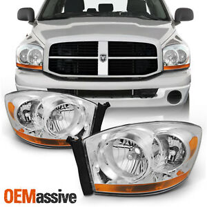 Fit 2006 2007 2008 Dodge Ram 1500 2500 3500 Replacement Headlights Left Right