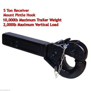 5 Ton Receiver Haul Tow Mount Pintle Hook 2 Receiver Hd Forge Steel 14 1 2 l